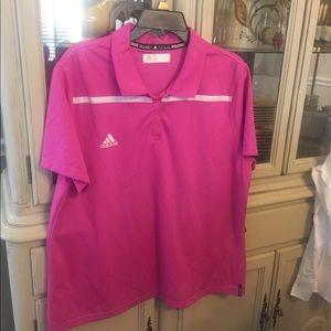 Adidas Climalite Golf Tennis Polo 2XL Pink
